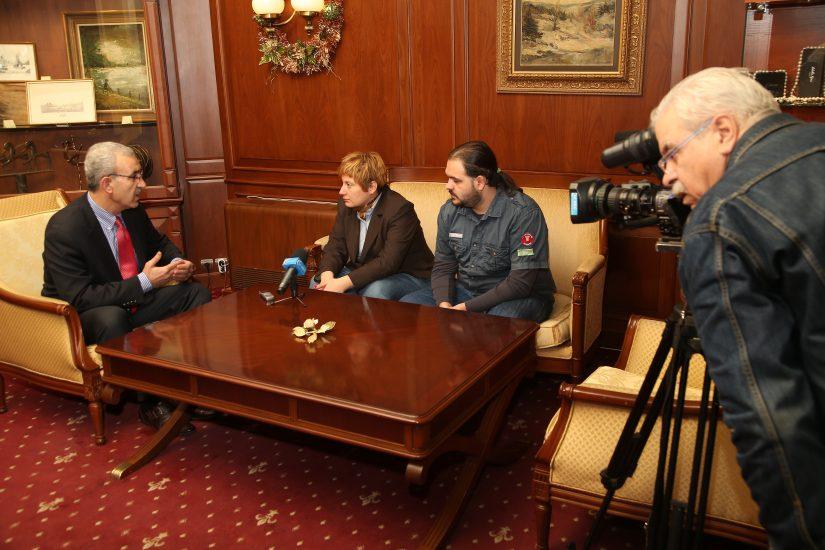 Fawzi Abu Hashish is giving an interview to Bulgarian TV, December 2012